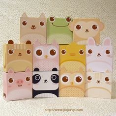 Cute Animal Gift Boxes from Jinjerup