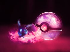 The Pokeball of Ghost Eevee by *wazzy88