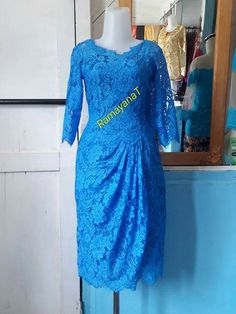 Kebaya Brokat, Dress Brokat, Batik Dress, Dresses With Sleeves, Women's Fashion, Weddings, Simple, Mini, Long Sleeve