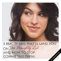 5 beauty sins you need to STOP committing! #makeup