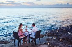 Romantic Dinner At The Beach-Immerse yourself in romance on your honeymoon and have a romantic dinner for two on the beach at the Presidente Intercontinental in Cozumel, Mexico. Submitted by : RomanceJourneys.com  in Dallas, Texas