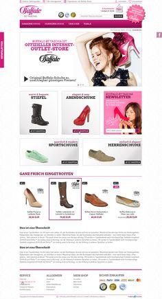 E-Commerce Webdesign made by 4market | www.4market.de/ | Onlineshop für Schuhe & Taschen | Offizieller Internet-Outlet-Store von Buffalo Boots