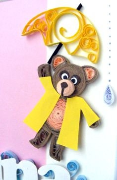 Quilling bear by Qmono