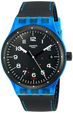 861bf44555b Amazon.com  Swatch Unisex SUTS402 Originals Analog Display Swiss Automatic  Black Watch  Swatch  Watches