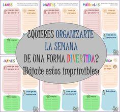 To Do List diario Diy Agenda, Agenda Planner, Routine Planner, Planners, Diy School Supplies, Personalized Books, Planner Organization, Printable Paper, Diy Scrapbook