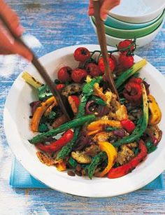 Rezept: Brotsalat mit Paprika