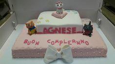 Aristocats aristogatti pdz cake torta pasta di zucchero fatto a mano