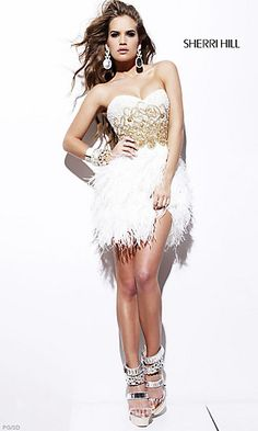 Sherri Hill will always have thee greatest feather dresses