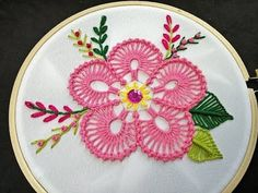 Hand Embroidery | Bead Stitch Flower Embroidery | Fantasy Flower Stitch | Hand Embroidery Designs - YouTube