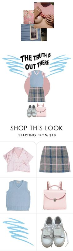 """""""1Q84"""" by onemorerainyday ❤ liked on Polyvore featuring Chateau De Sable, The Cambridge Satchel Company, Mally and Acne Studios"""