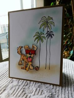 Dog crazy in Hawaii, IC582 by Carrie3427 - Cards and Paper Crafts at Splitcoaststampers