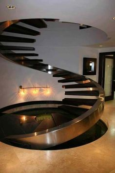 surreal staircase #modern #architecture It's about more than golfing, boating, and beaches; it's about a lifestyle! www.PamelaKemper.com KW homes for sale in Anna Maria island Long Boat Key Siesta Key Bradenton Lakewood Ranch Parrish Sarasota Manatee