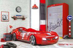 Cama coche de Cilekspain, dormitorios temáticos. Con luces y sonido.