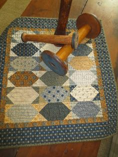 Hint of Fall pattern in blue and golds