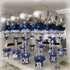 Holiday Party Discover Christening or birthdays Balloon Table Centerpieces Balloon Decorations Party Balloon Ideas Birthday Room Decorations Birthday Party Centerpieces Birthday Balloons Blue Birthday Baby Shower Wall Decor Birthday Ideas For Mom Balloon Table Centerpieces, Balloon Decorations Party, Balloon Garland, Balloon Ideas, Birthday Room Decorations, Birthday Party Centerpieces, Baby Shower Wall Decor, Baby Boy Shower, 60th Birthday Ideas For Mom