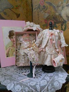 presentation box antique french doll | Wonderful French BeBe Two Costume - Set in Presentation Box ...
