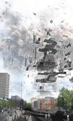 architecture diagram _ Exploded - :DETAIL: - Axonometric Exterior Visualisation