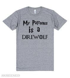 my patronus is a direwolf funny harry potter game of thrones shirt #Skreened