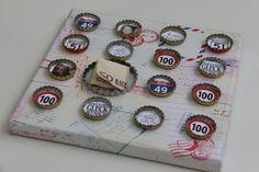 Geldgeschenk zum 50. Geburtstag, Kronkorken basteln