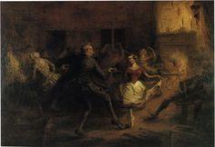 John Quidor Oil Painting repro Ichabod Crane at the Van Tassel Ball