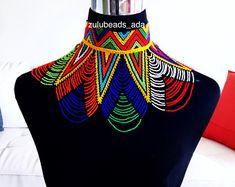 Zulu Beaded web necklace and earings African Wear, African Dress, African Fashion, African Beads Necklace, African Jewelry, Zulu Traditional Attire, Zulu Wedding, Zulu Women, African Accessories