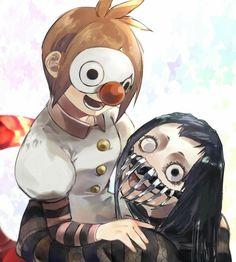 Roma and shikorae Kaneki, Tsukiyama, Ken Tokyo Ghoul, Wildest Fantasy, Deadman Wonderland, Naruto Girls, Manga Drawing, Japanese Art, Anime Characters