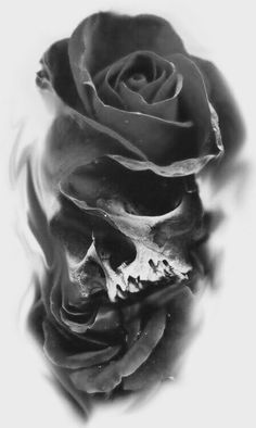 Cool Skull Tattoos For Women – My hair and beauty Skull Rose Tattoos, Body Art Tattoos, New Tattoos, Sleeve Tattoos, Cool Tattoos, Skull Tattoo Design, Tattoo Designs, Tattoo Ideas, Tattoo Sketches