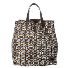 Prada Brown/Black Printed Tote – AhandbagAday.... authentic designer handbags on SALE now!!
