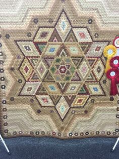 "1/2"" hexies in this quilt. The winner in the Quilt show in Adelaide."