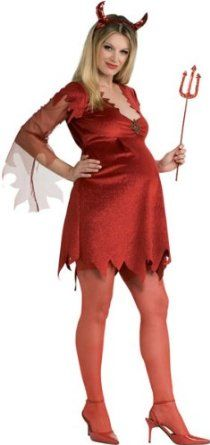 Mommy To Be Devil Lady Adult Costume A sinfully sassy dress for Mom! You too can have this Satanically sexy look! The Mommy To Be Devil Lady Adult costume includes a r Meme Costume, Devil Costume, Costume Shop, Costume Dress, Popular Halloween Costumes, Pregnant Halloween Costumes, Cute Costumes, Adult Costumes, Costumes For Women