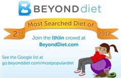 One stop solution for all beyond diet reviews! What about healthy diet? Sounds too good to be true, wonder if does beyond diet work - well wonder no more as as you can see this is the 2nd most popular dieting program available on the internet today.