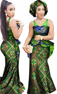 ab5bcb940651c Petalsfashionz Classic 2 African Dress Dashiki Wax Print Batik Head Scarf