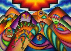 Una obra del artista boliviano Roberto Mamani Mamani