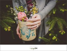 flowers and pots, ring shot, outdoor sessions, sunset sessions, Twig and olive photography