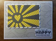 For OWH. Die xuts from Cricut cartridges Simple Cards and Elegant Edges. Embossing folding and stamp are from Stampin' Up.