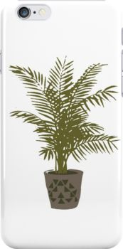 Iphone case - Houseplant with a cool pot by opul