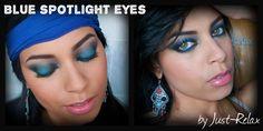 Blue Spotlight Eye Makeup