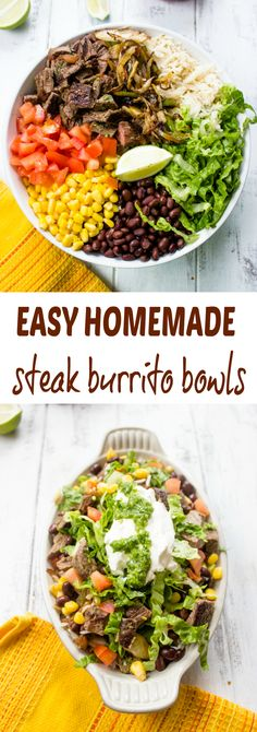 Better Than Chipotle Homemade Steak Burrito Bowls