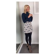 """63.3k Likes, 297 Comments - Holly Willoughby (@hollywilloughby) on Instagram: """"Good morning! Today's look on @thismorning dress by @hobbslondon boots by @jonesbootmaker #HWStyle✨"""""""