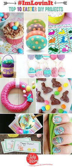 Top 10 EASTER DIY Projects at TidyMom.net