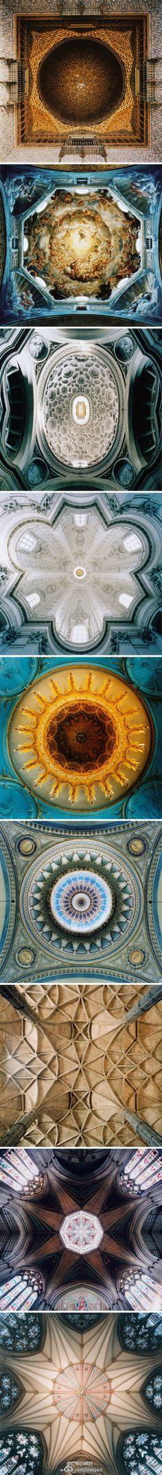 美國攝影師David Stephenson的攝影作品,古建築內部的天花板,很美!