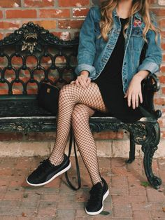 Fishnets and Jean Jacket