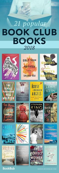A great list of book club books for women to read in 2018.