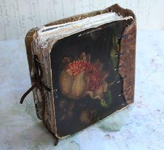 Chunky Little Rose Book by Patty Van Dorin Fabric Journals, Art Journals, Album Book, Book Journal, Altered Books, Handmade Journals, Handmade Books, Bookbinding, Art Du Papier