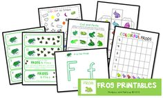 Free Frog Printable Pack - Spring (when the pond fills up with tadpoles)