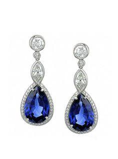 Something Blue:  blue sapphire earrings