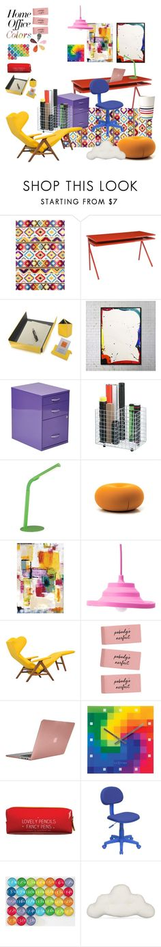 """""""Have Fun With Colors"""" by taci42 ❤ liked on Polyvore featuring interior, interiors, interior design, home, home decor, interior decorating, nuLOOM, Blu Dot, Giorgio Fedon 1919 and Office Star"""
