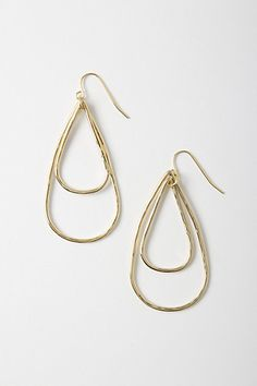 Anthro Double Arrowhead Earrings. Love these--delicate and different.