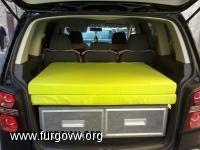 mueble cama touran Volkswagen Touran, Diy Camper, Camper Van, Camping Box, Day Van, Bus House, Car Freshener, Camper Conversion, Car Hacks