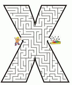 #TDAH ABECEDARIO DE LABERINTOS de letras en mayúscula y minúscula -Orientacion Andujar
